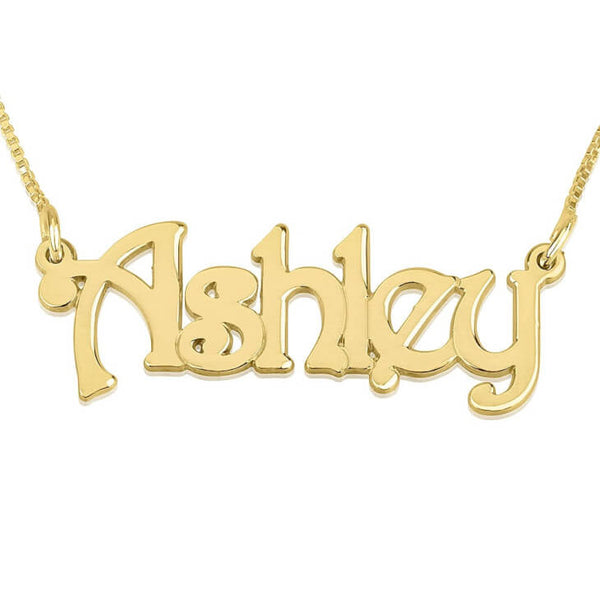 Personalized 14K Gold Harrie Style Name Necklace
