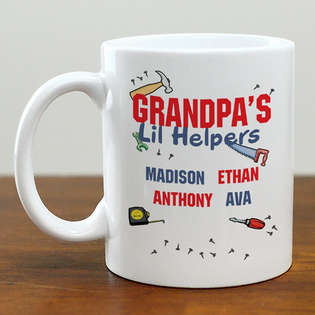 "Personalized ""Grandpa's Lil Helpers"" Mug"