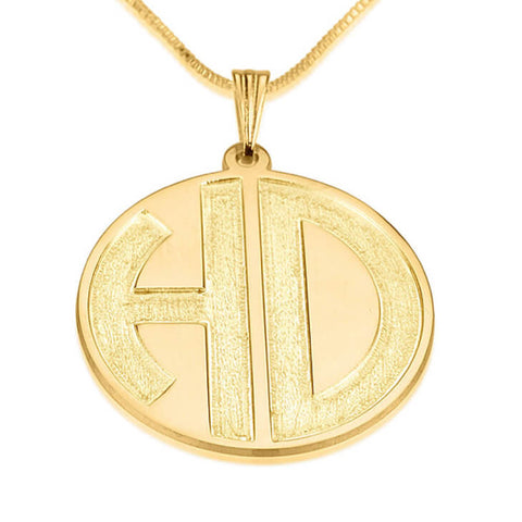 Personalized 24k Gold Plated Sparkling 2 Letters Monogram Necklace