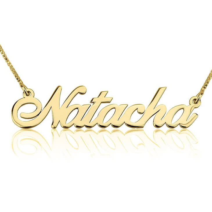 Personalized 24K Gold Plated Classic Name Necklace