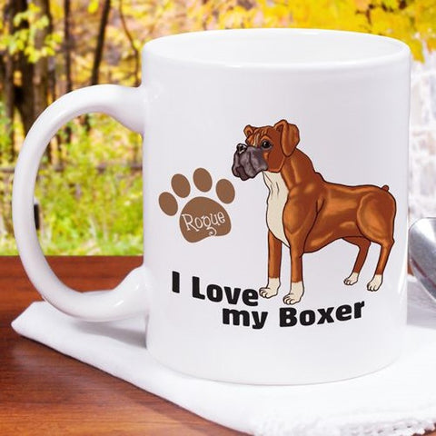Personalized I Love My Boxer Mug