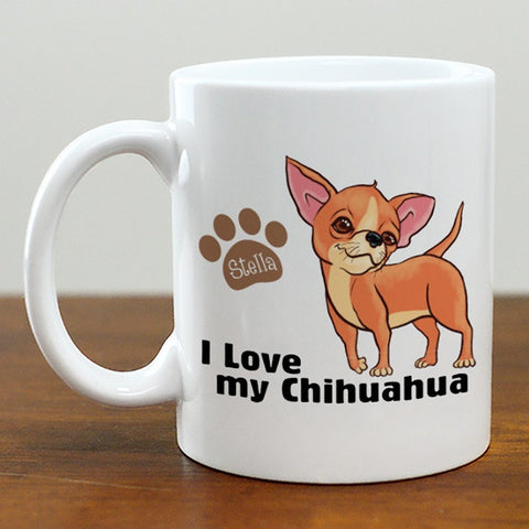 Personalized I Love My Chihuahua Mug