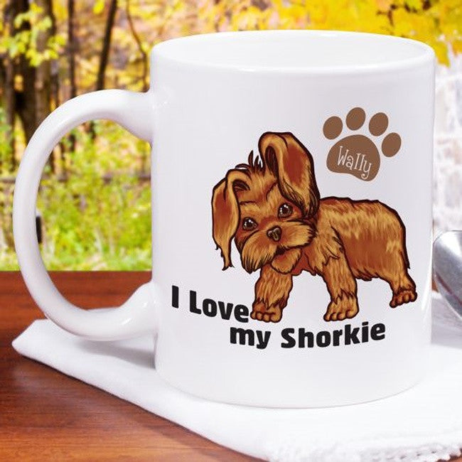 Personalized I Love My Shorkie Mug
