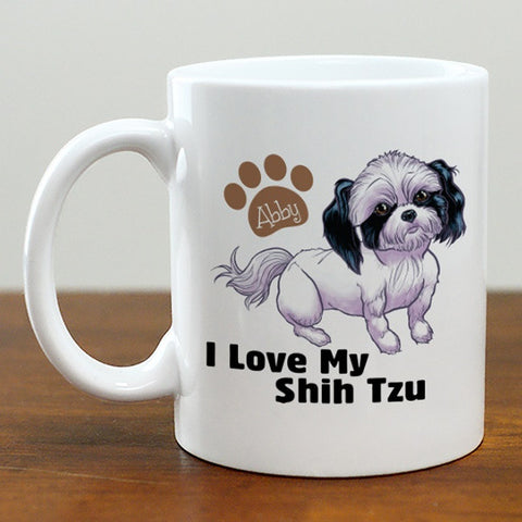 Personalized I Love My Shih Tzu Mug