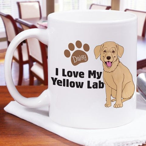 Personalized I Love My Yellow Lab Mug