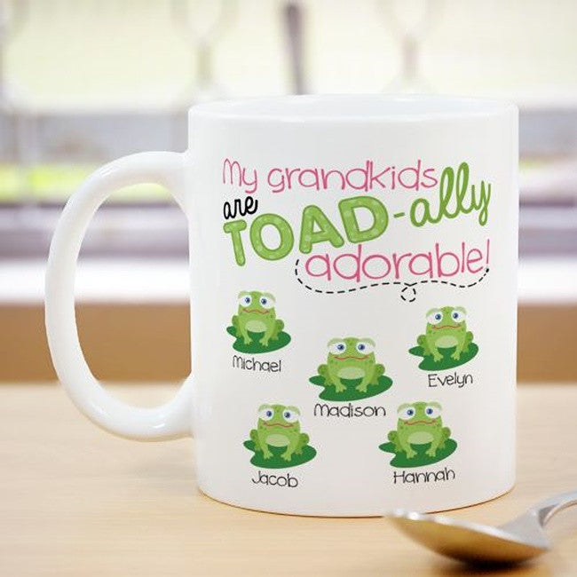 Personalized My Toad-ally Adorable Grandkids Coffee Mug