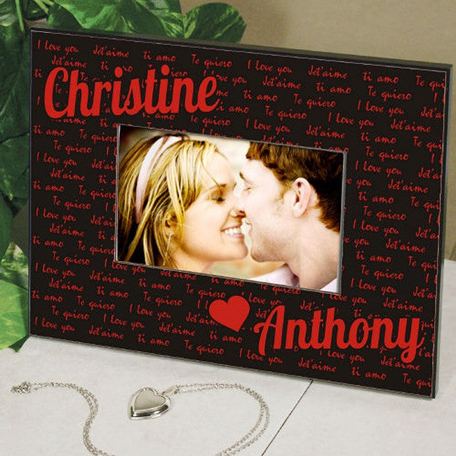 Personalized I Love You Printed Frame