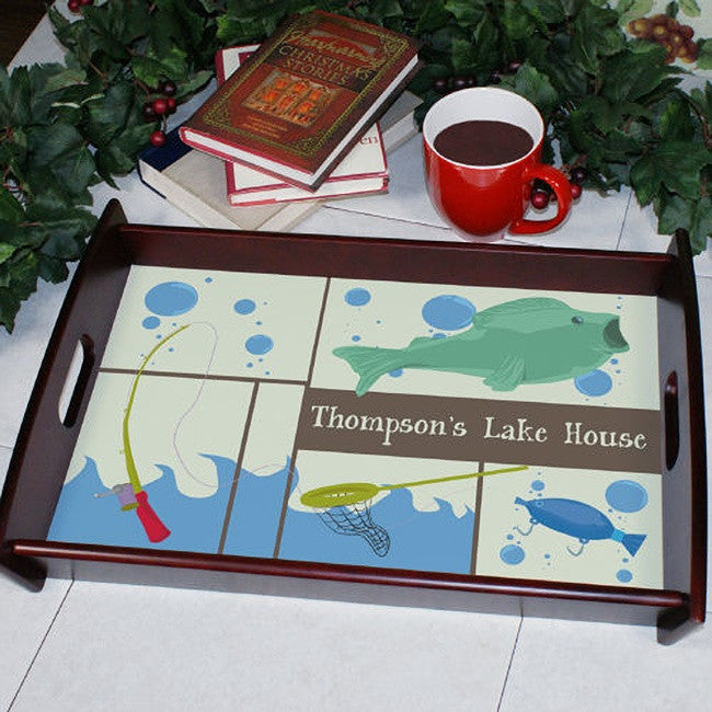 Personalized Fisherman Wood Serving Tray