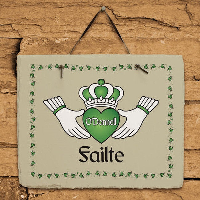 Personalized Failte Irish Slate Plaque