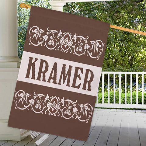 Personalized Family Welcome House Flag