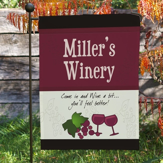 Personalized My Winery Garden Flag