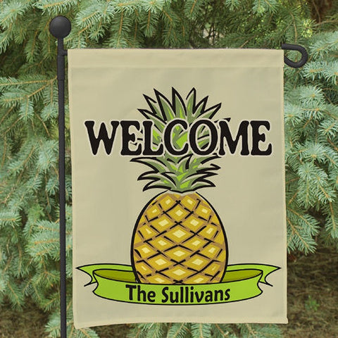 Personalized Pineapple Welcome Garden Flag