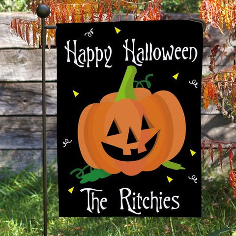 Personalized Pumpkin Garden Flag
