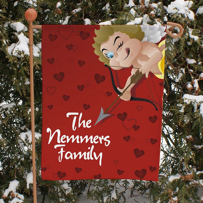 Personalized Cupid Garden Flag