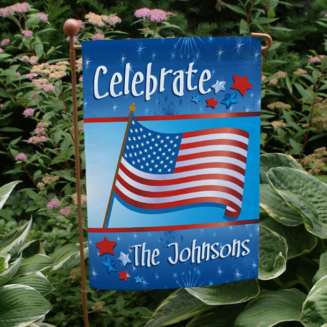 Personalized July 4th Celebration Garden Flag