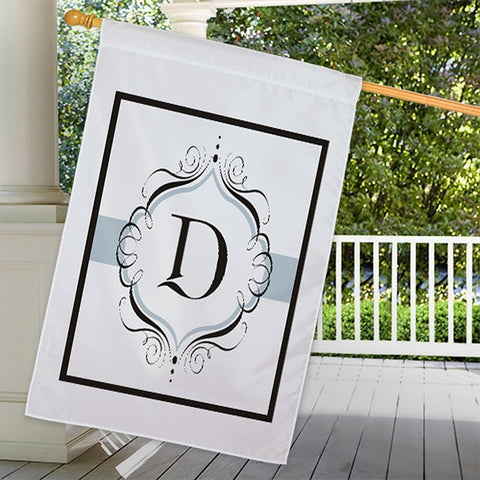 Personalized Family Initial House Flag