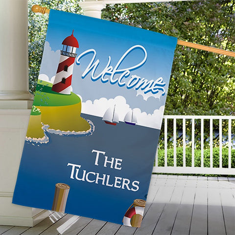 Personalized Lighthouse House Flag