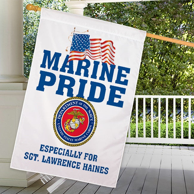 Personalized Military Pride House Flag