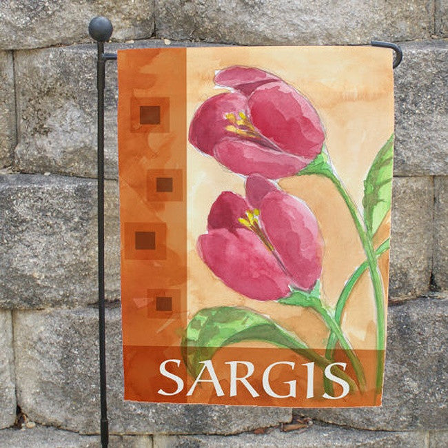Personalized Spring Flower Garden Flag