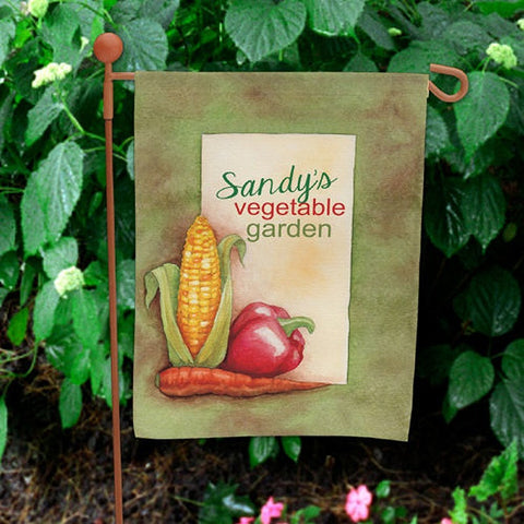 Personalized Vegetable Garden Flag