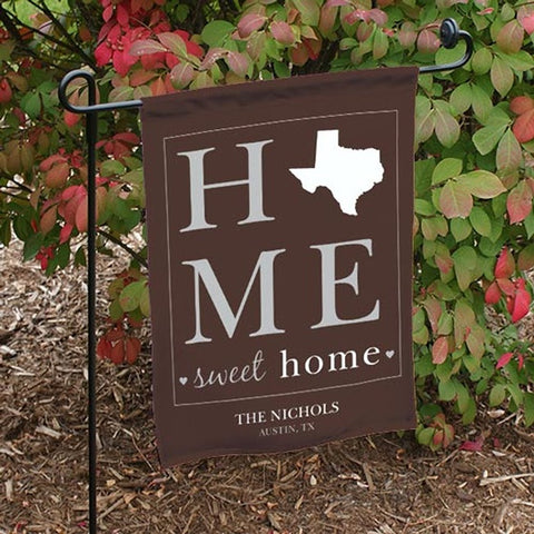 Personalized Home Sweet Home Welcome Garden Flag