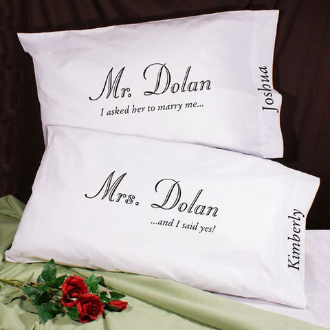 Personalized I Asked Her Pillowcase Set