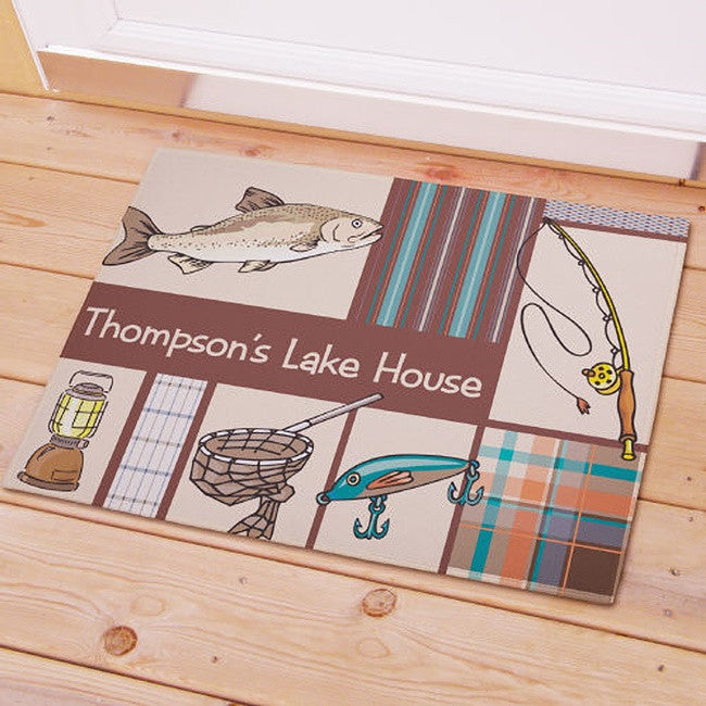 Personalized Fisherman Frenzy Welcome Doormat