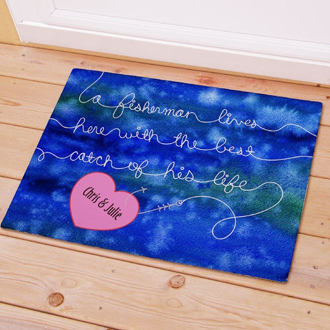 Personalized Fisherman's Best Catch Doormat