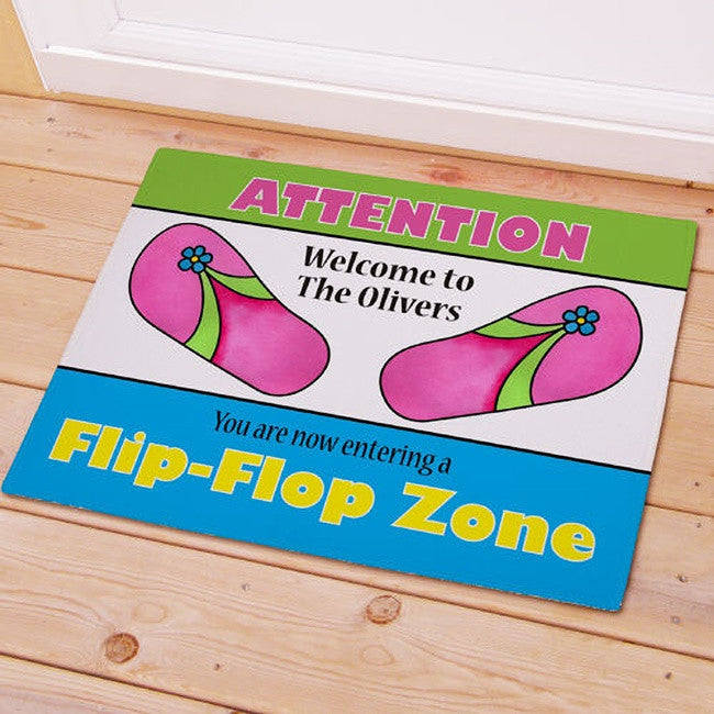 Personalized Flip Flop Zone Doormat