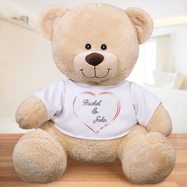 Personalized Sweethearts Teddy Bear