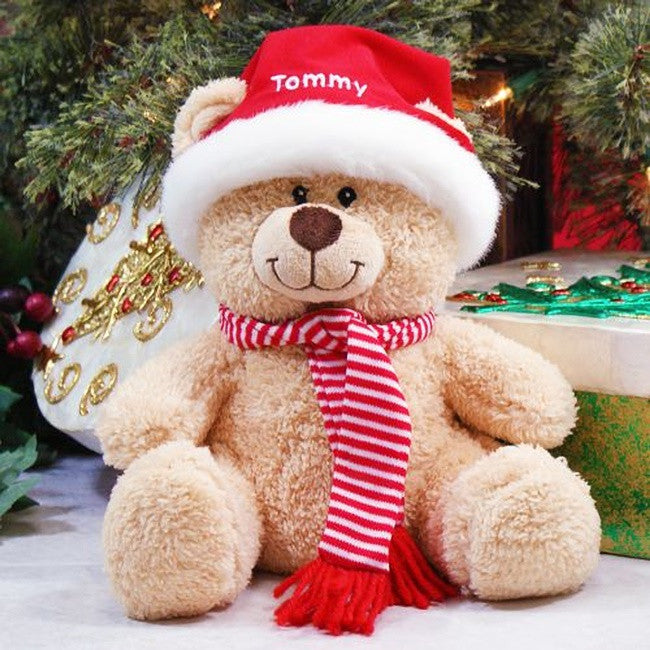 Personalized Santa Hat Teddy Bear