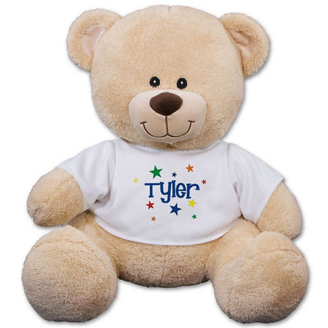 Personalized Colorful Stars Teddy Bear