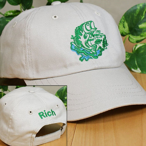 Personalized Fishing Baseball Hat In 3 Colors