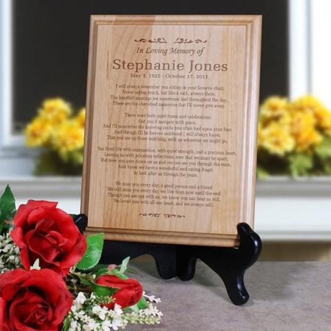 Personalized In Loving Memory Wood Plaque