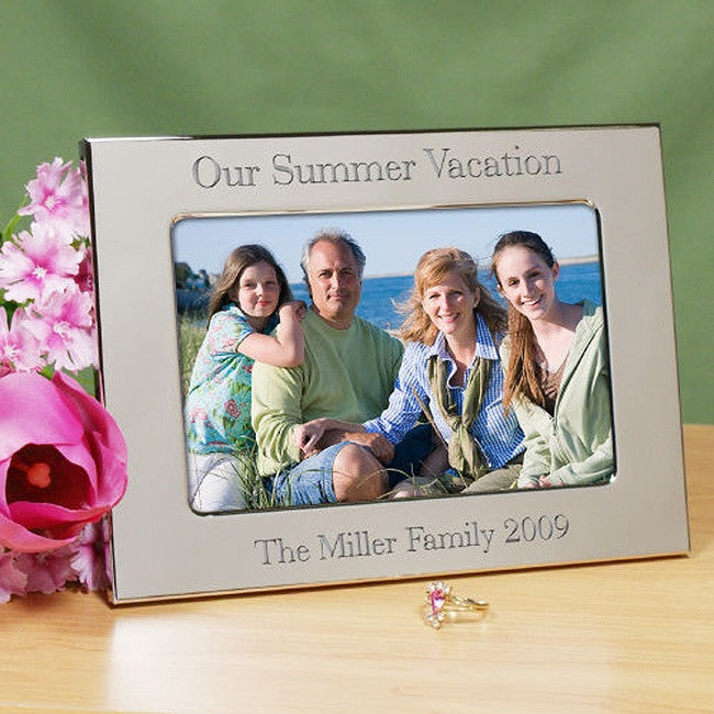 Personalized Family Vacation Silver  Frame