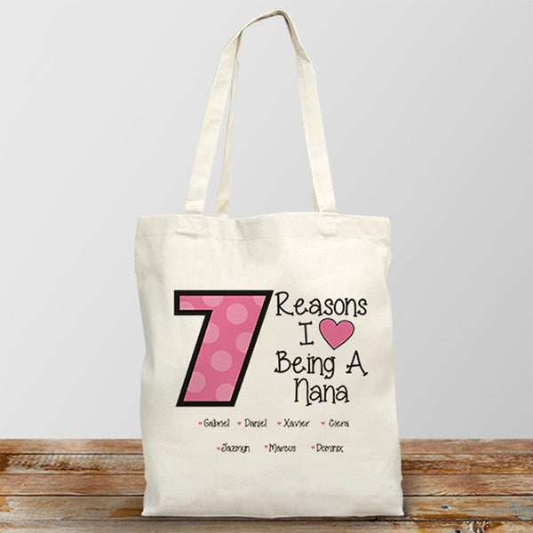 Personalized Reasons I Love Being A Nana Tote Bag