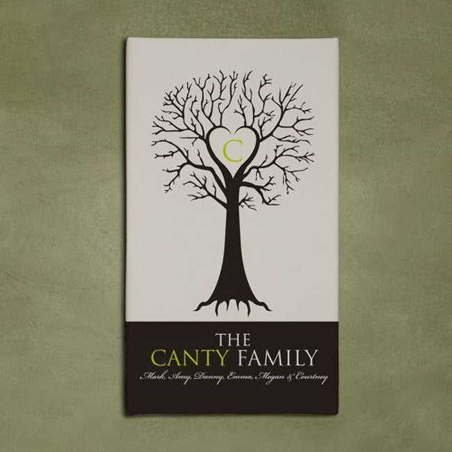 "Personalized Monogram Wall Canvas ""Family Tree"""