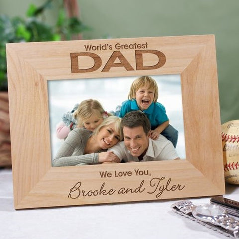 Personalized Engraved World's Greatest Dad Photo Frame