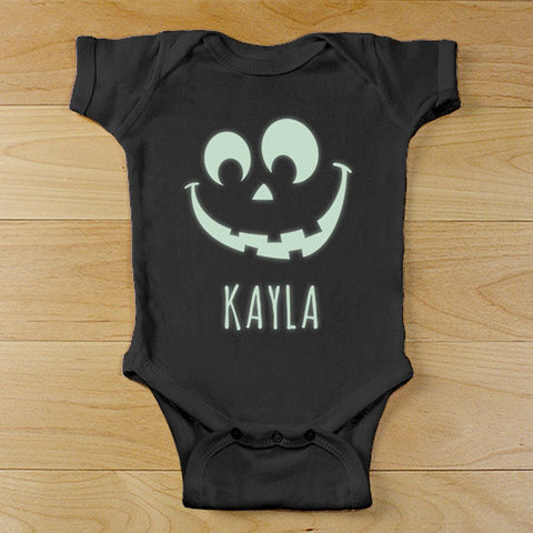 Personalized Glowing Face Black Onesie