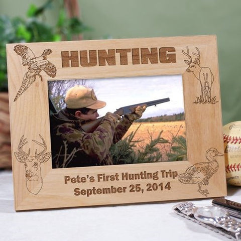Personalized Engraved Hunting Wood Picture Frame
