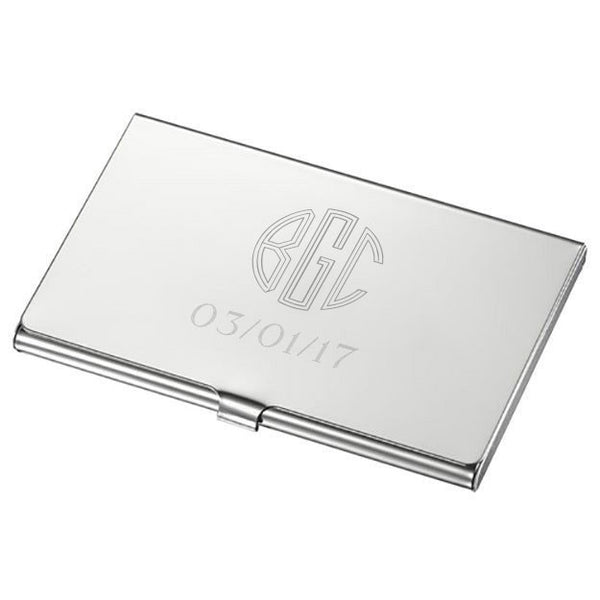 Crome High Polish Business Card Case - Personalized