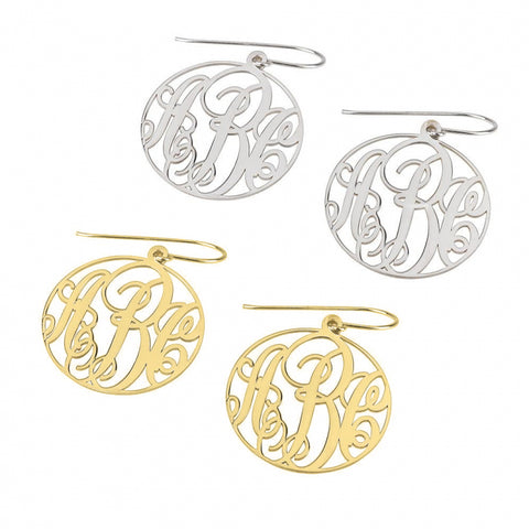 Personalized Classic Monogram Earrings
