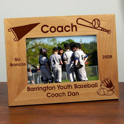 Personalized Baseball Coach Frame