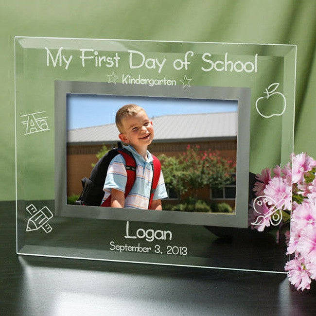 Personalized My First Day of School Personalized Glass Frame