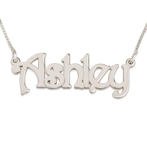 Personalized Silver Harrie Style Name Necklace
