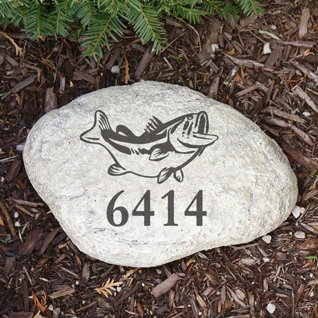 Personalized Engraved Fish Garden Stone