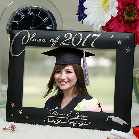 Personalized Engraved Black Graduation Picture Frame