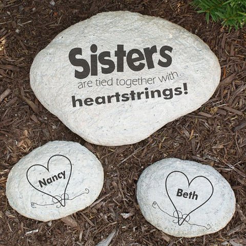 Personalized Engraved Sisters Garden Stone