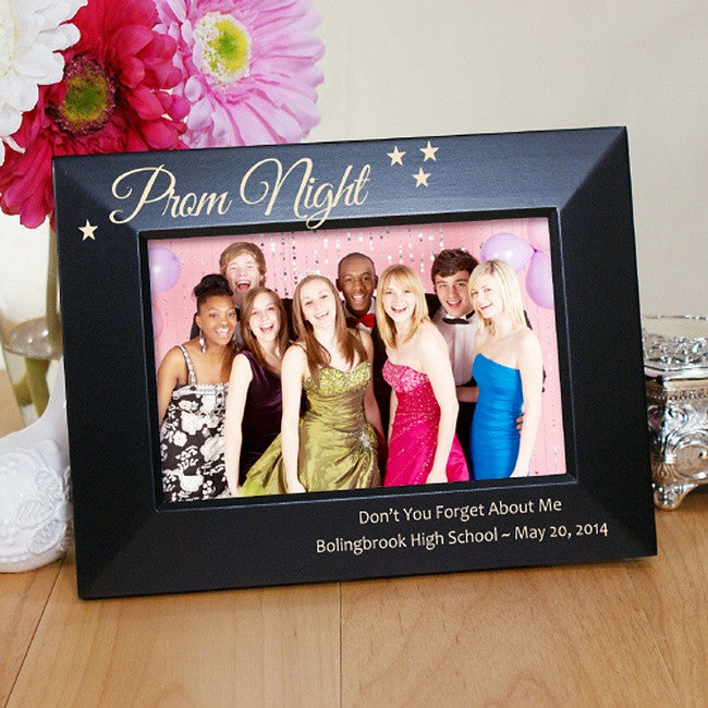 Personalized Engraved Prom Night Black Frame
