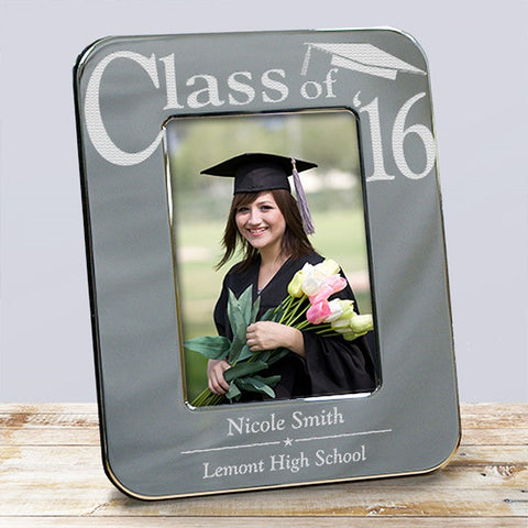 Personalized Engraved Silver Graduation Picture Frame